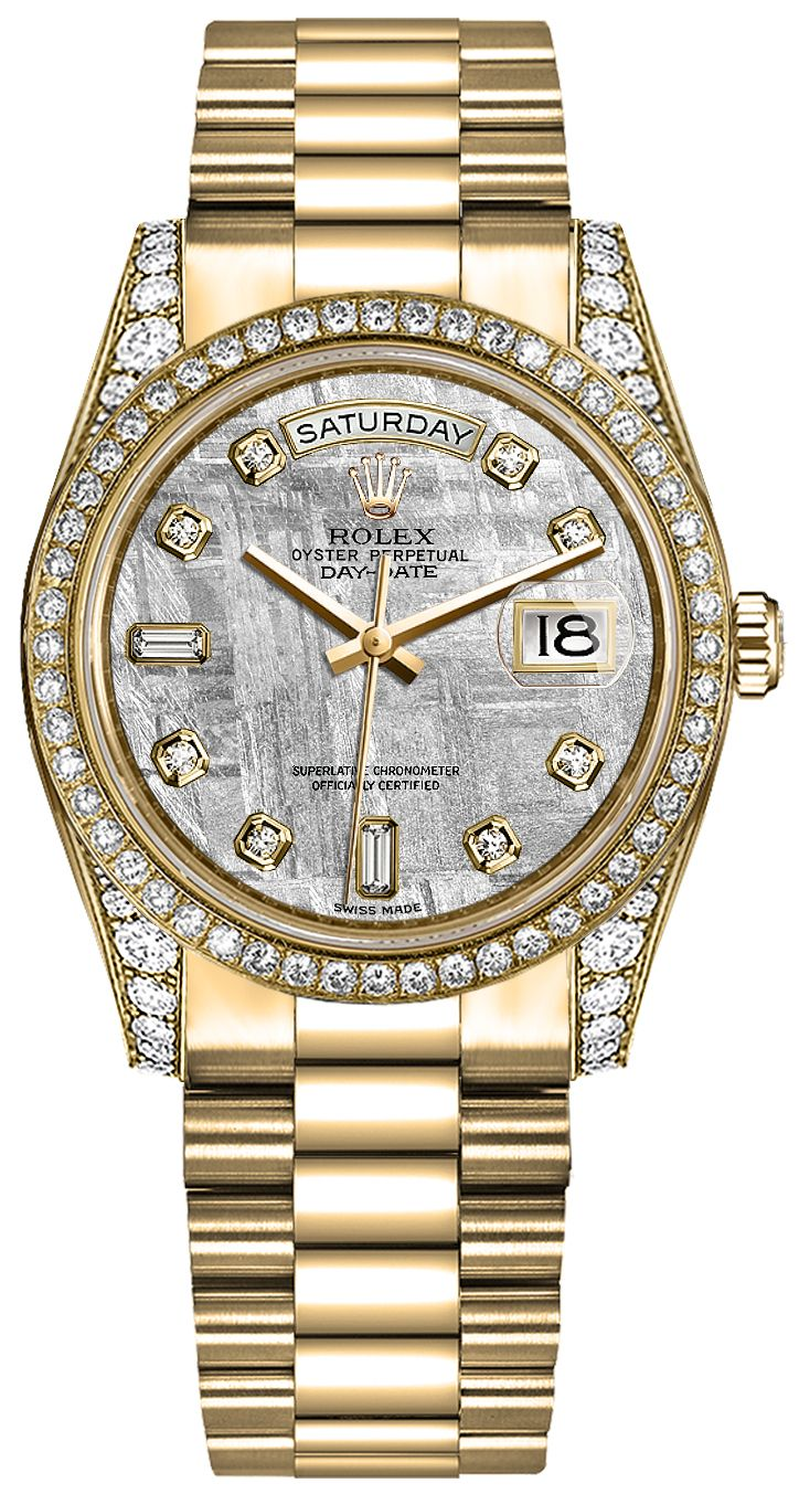 Authentic rolex day date 36 diamond watch 118388 for Rolex day date 36