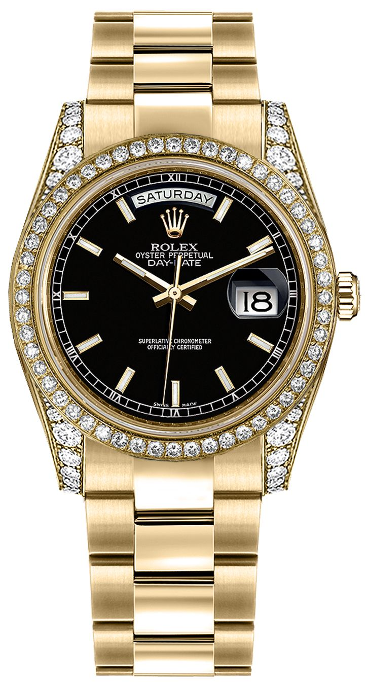 Discounted rolex day date 36 gold watch 118388 for Rolex day date 36