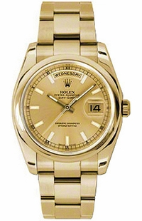Rolex Day-Date 36 Oyster Bracelet Gold Watch 118208