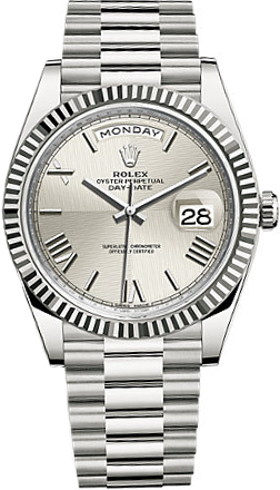 Rolex Day Date 40 Men S Solid 18k White Gold Watch 228239