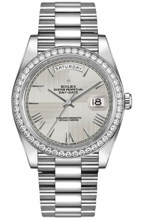 Rolex Day-Date 40 Silver Dial Men's Watch 228349RBR-0004