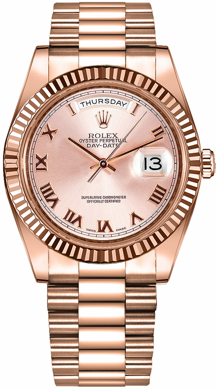 Rolex Day Date 41 Rose Gold Watch 218235