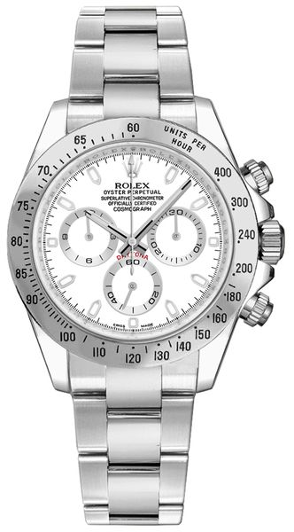 Rolex Cosmograph Daytona White Dial Men's Watch 116520-0016