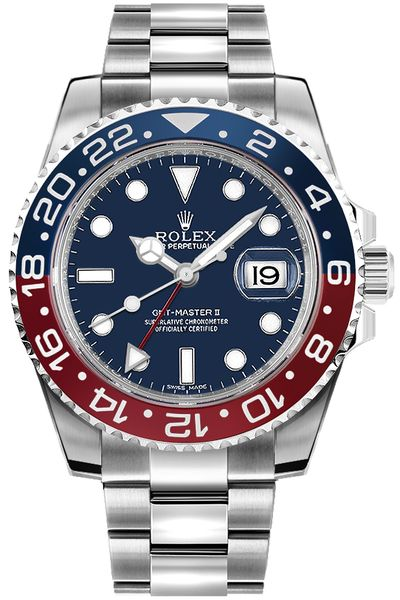 Rolex GMT-Master II Blue Dial Men's Watch 116719BLRO