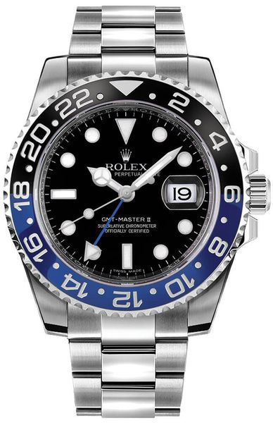 Rolex GMT-Master II Batman 40mm Men's Watch 116710BLNR
