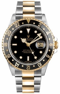 Rolex GMT-Master II Black Dial Men's Watch 16713LN