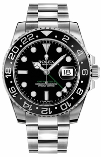 Rolex GMT-Master II Black Dial Oystersteel Men's Watch 116710LN
