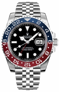 Rolex GMT-Master II Pepsi Luxury Men's Watch 126710BLRO