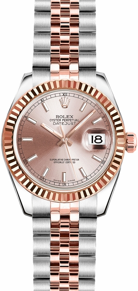 Rolex Lady-Datejust 26 Pink Dial Watch 179171