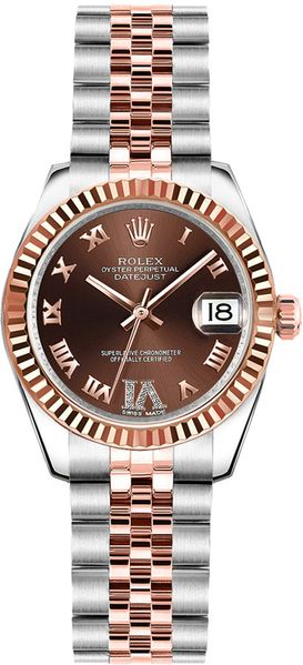 Rolex Lady-Datejust 26 Chocolate Dial Women's Watch 179171