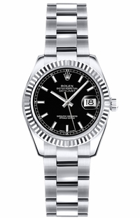 Rolex Lady-Datejust 26 Black Dial Watch 179179