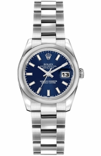 Rolex Lady-Datejust 26 Blue Dial Watch 179160