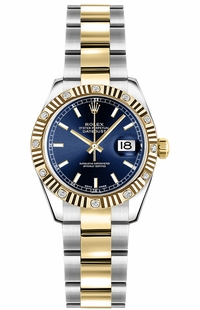 Rolex Lady-Datejust 26 Blue Dial Watch 179313