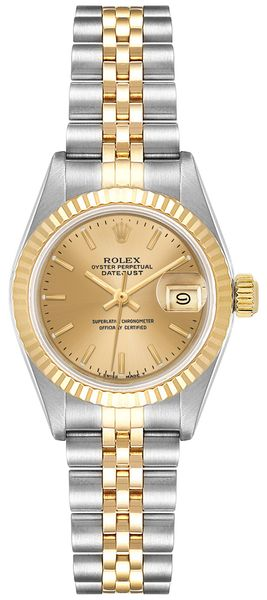 Rolex Lady-Datejust 26 Champagne Dial Women's Watch 69173