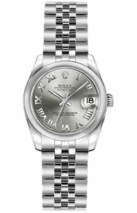 Rolex Lady-Datejust 26 Domed Bezel Jubilee Bracelet Watch 179160