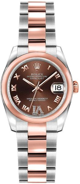 Rolex Lady-Datejust 26 Everose Gold & Steel Women's Watch 179161