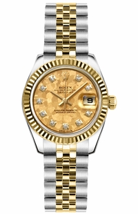 Rolex Lady-Datejust 26 Fluted Bezel Jubilee Bracelet Women's Watch 179173