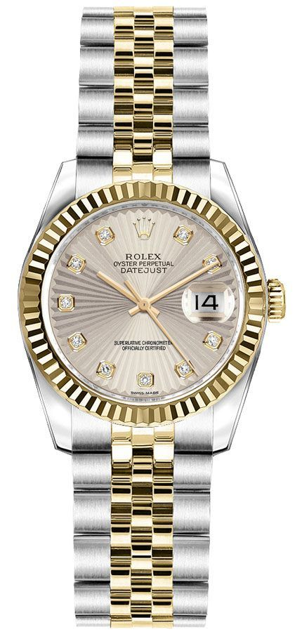 Rolex Lady,Datejust 26 Ivory Sunbeam Dial Women\u0027s Watch 179173