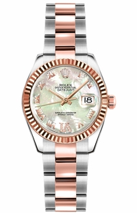 Rolex Lady-Datejust 26 Mother of Pearl Rose Gold & Steel Watch 179171