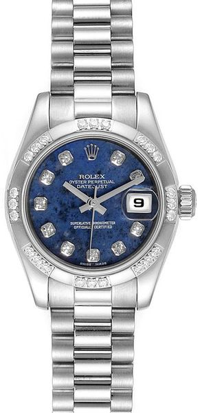 Rolex Lady-Datejust 26 Presidential Diamond Bezel Women's Watch 179369