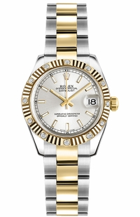 Rolex Lady-Datejust 26 Silver Dial Women's Watch 179313
