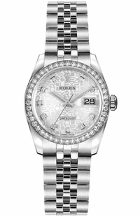 Rolex Lady-Datejust 26 Silver Jubilee Dial Women's Watch 179384