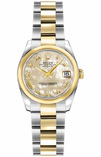 Rolex Lady-Datejust 26 Solid 18K Yellow Gold & Steel Watch 179163