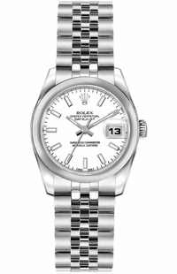 Rolex Lady-Datejust 26 White Dial Women's Watch 179160