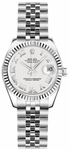 Rolex Lady-Datejust 26 White Roman Numeral Dial Watch 179174