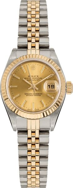 Rolex Lady-Datejust 26 Champagne Dial Women's Watch 79173