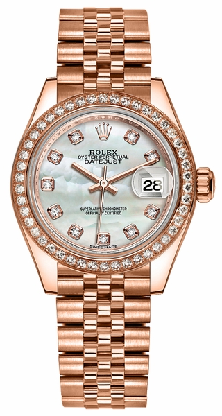 Rolex Lady-Datejust 28 Solid Gold Watch 279135RBR