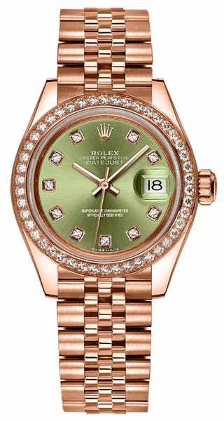 Rolex Lady-Datejust 28 Rose Gold Watch 279135RBR