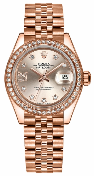 Rolex Lady-Datejust 28 Solid 18K Rose Gold Watch 279135RBR