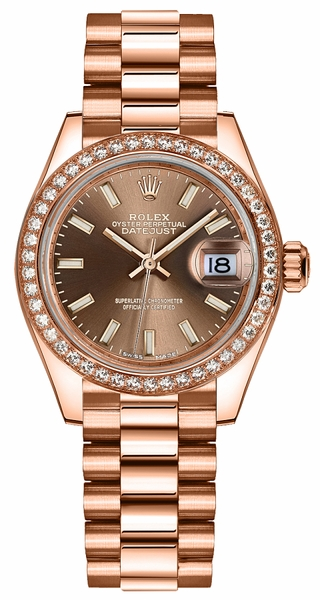 Rolex Lady-Datejust 28 Rose Gold Women's Watch 279135RBR