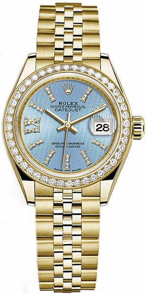 Rolex Lady-Datejust 28 Blue Diamond Dial Watch 279138RBR