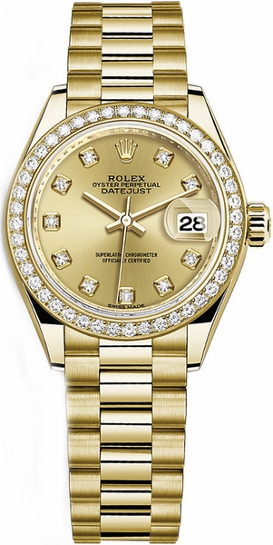 Rolex Lady-Datejust 28 Solid Gold Watch 279138RBR