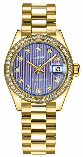 Rolex Lady-Datejust 28 Diamond Bezel Watch 279138RBR