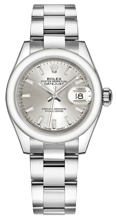 Rolex_Lady-Datejust_28_Silver_Dial_Watch_279160