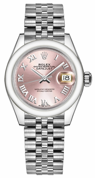 Rolex Lady-Datejust 28 Pink Dial Watch 279160