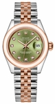 Rolex Lady-Datejust 28 Green Diamond Dial Watch 279161