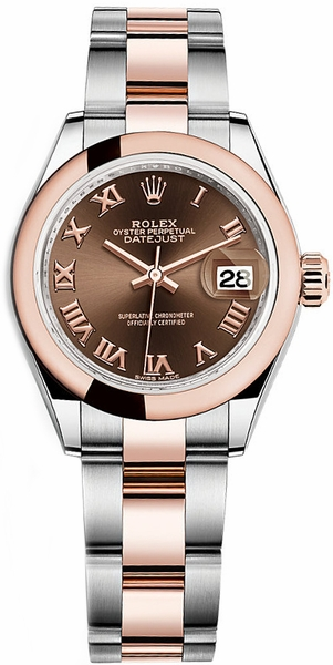 Rolex Lady-Datejust 28 Solid 18K Rose Gold & Steel Watch 279161
