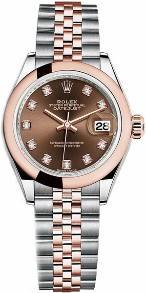 Rolex Lady-Datejust 28 Diamond Dial Watch 279161