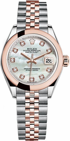 Rolex Lady-Datejust 28 Mother of Pearl Diamond Watch 279161