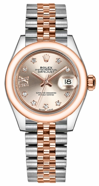 Rolex Lady-Datejust 28 Stainless Steel & Gold Watch 279161