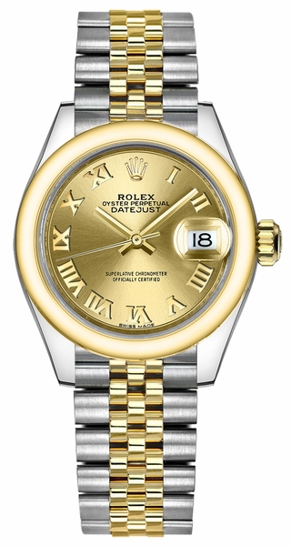 Rolex Lady-Datejust 28 Champagne Dial Watch 279163-0009