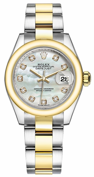 Rolex Lady-Datejust 28 Mother of Pearl Diamond Watch  279163