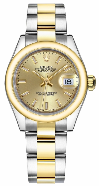 Rolex Lady-Datejust 28 Champagne Dial Watch 279163