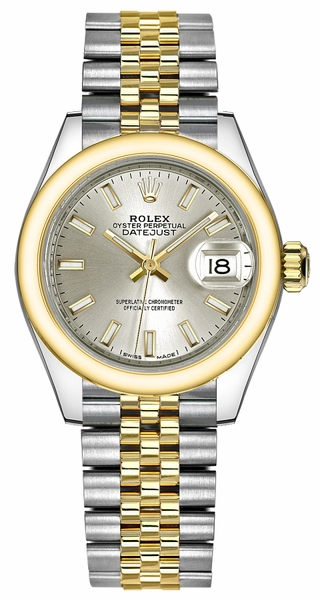 Rolex Lady-Datejust 28 Silver Dial Watch 279163