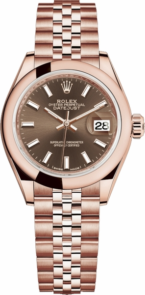 Rolex Lady-Datejust 28 Jubilee Bracelet Rose Gold Women's Watch 279165