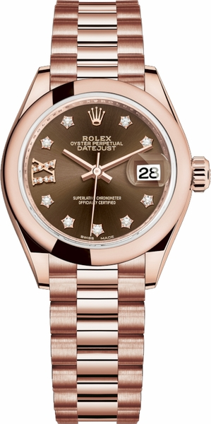 Rolex Lady-Datejust 28 Diamond Women's Watch 279165